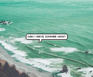 summer, beach, and ocean image