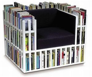 books, chair, and book chair image
