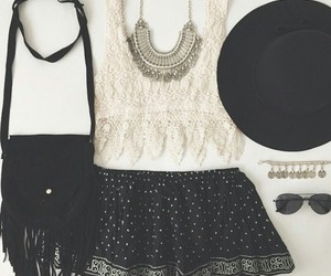outfit, black, and white image