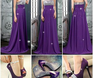 dress, morado, and fashion image