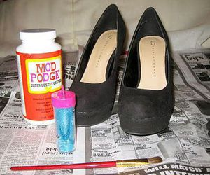 diy, shoes, and glitter image