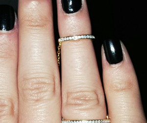 black nails, cartier, and chanel image