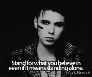 andy biersack, quotes, and black veil brides image