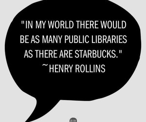 books, coffee, and henry rollins image