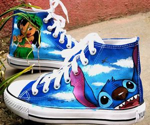 shoes, converse, and stitch image