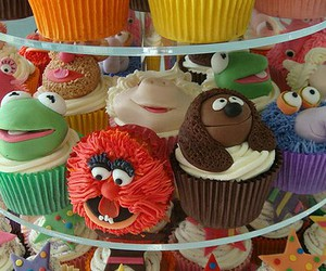 cupcakes, food, and art image