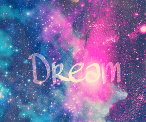 Dream, galaxy, and background image