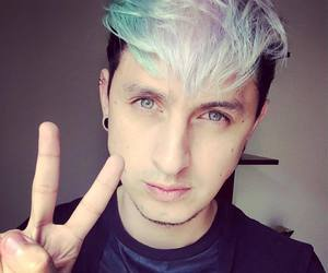 blue hair, hair, and crazy hair image