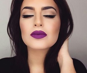 lips, makeup, and eyeliner image