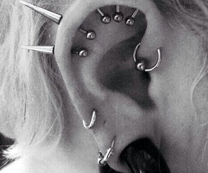 piercing and spikes image