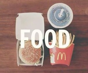 food, McDonalds, and hamburger image