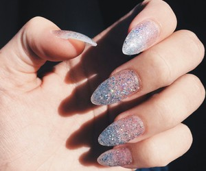 glitter claw nails and girly claw nails image