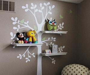 owl, shelf, and tree image