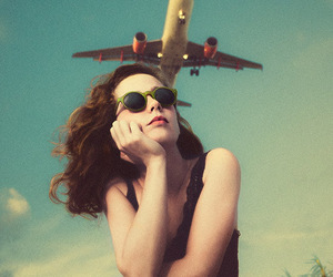 vintage, plane, and airplanes image