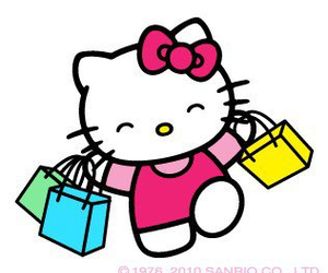 hello kitty and shopping bags image