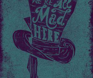 alice in wonderland, mad hatter, and wonderland image