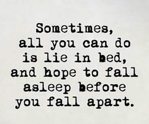 quote, falling apart, and hope image