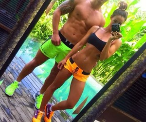 couple, fitness, and workout image