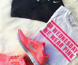clothes, fitness, and girly image