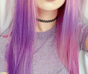 grunge, pastel colors, and pink hair image