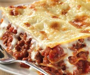 food, yummy, and lasagne image