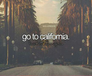 california, travel, and bucket list image