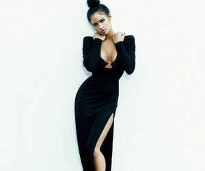 cassie, girl, and black dress image