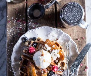 food, breakfast, and sugar image