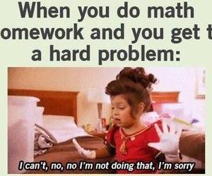 math, homework, and funny image