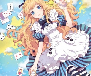 anime, alice in wonderland, and alice image