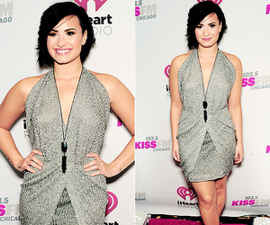 dress, demi lovato, and hair image