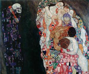 art, Gustav Klimt, and death image