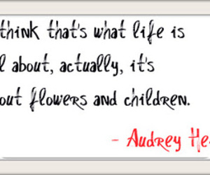 about, flowers, and audrey hepburn image