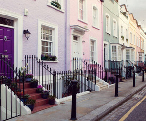 house, pink, and london image