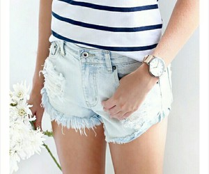 flowers, girl, and hotpants image