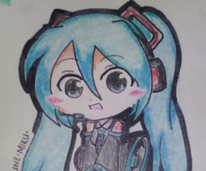 anime, chibi, and drawing image