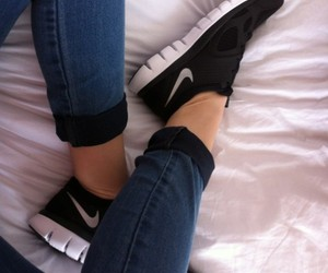 bed, nikes, and running image
