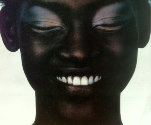 smile, girl, and black image