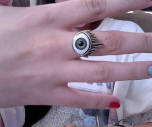 eye, hipster, and ring image