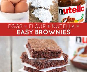 brownies, diy, and Easy image