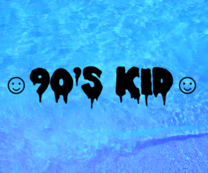 90s, blue, and kid image