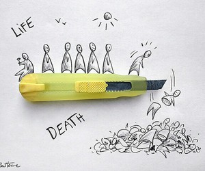 death, life, and drawing image