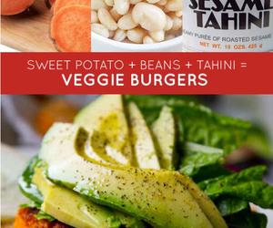 burger, vegan, and veggie image