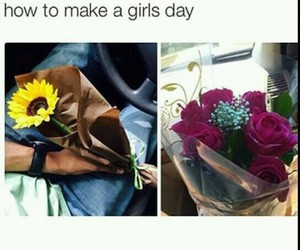 flowers, rose, and girls image