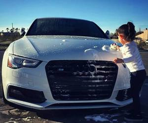 car, audi, and baby image