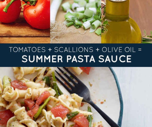 pasta, summer, and tomato image