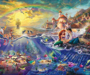 disney, painting, and beautiful image