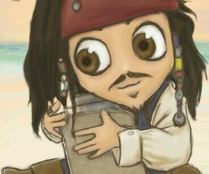 chibi, jack sparrow, and pirates of the caribbean image