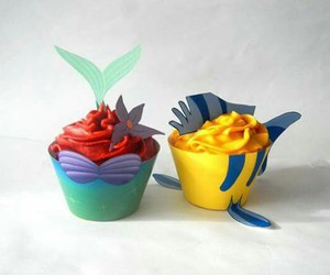 the little mermaid and cupcake image