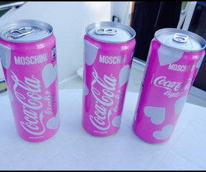 pink, Moschino, and coca cola image